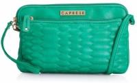 Caprese Women Green Leatherette Sling Bag
