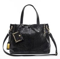 sophia visconti S-207 anoconda Messenger Bag(Black, 3 L)