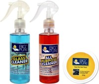 BIG Pure Glass Cleaner 200 ml, All Purpose Cleaner 200 ml and Heavy Duty Hand Cleaner 200 g(400 ml)