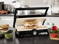 Nova 2 slice ceramic coated sandwich press Grill(Black, Grey)
