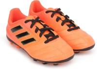 Adidas Boys Lace Football Shoes(Orange)