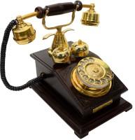 View Interio Crafts Chicago Corded Landline Phone(Brown, Golden) Home Appliances Price Online(Interio Crafts)