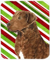 Caroline's Treasures Chesapeake Bay Retriever Candy Cane Christmas MousePad Mousepad(Multicolor)
