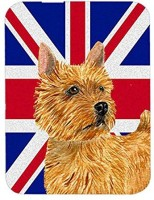 Caroline's Treasures Norwich Terrier with English Union Jack British Flag Mouse Pad Mousepad(Multicolor)