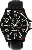 SAMEX LATEST STYILISH FASHIONABLE BIG SIZE NEWEST POPULAR DESIGNER BLACK ANALOG WATCH DISCOUNTED SALE PRICE Watch  - For Men
