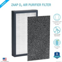 View Zaap O2 Filter Portable Room Air Purifier(Black) Home Appliances Price Online(Zaap)