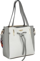 Carlton London Shoulder Bag(White, Grey)