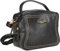 Carlton London Women Black Leatherette Sling Bag