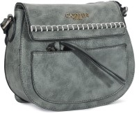Carlton London Women Grey Leatherette Sling Bag