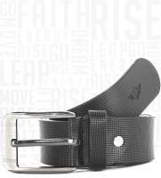 Metronaut Men Casual Black Genuine Leather Belt