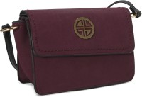 Carlton London Women Maroon Leatherette Sling Bag