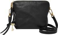 Fossil Women Black Genuine Leather Sling Bag