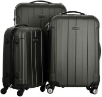 Electron Abs Grey Hardsided Travel 3 Piece Luggage Set of (19