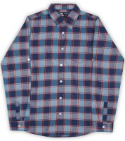 Flying Machine Boys Checkered Casual Red, Blue Shirt