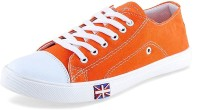 NAMLESS Orange Canvas Casual Shoes For Boy's,Girl's And Men's Sneakers(Orange)