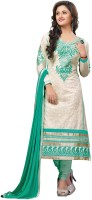Shree Vardhman Cotton Embroidered Salwar Suit Dupatta Material(Un-stitched)