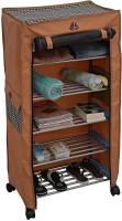 Uberlyfe 5 Shelf Shoe Rack With Cover Space Saving Shoe Storage Organizer Shoe Shelf / Shoe Cabinet - (CP-1596-TRDYRK-5SF-A) Metal Collapsible Shoe Stand(Multicolor, 5 Shelves)