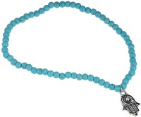 Bold N Elegant Turquoise Boho Beads Hamsa Fatima Anklet Ankle Bracelet Barefoot Anklets Foot Chain Beach Jewelry Alloy Anklet