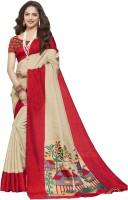 Gugaliya Self Design Bollywood Cotton Linen Blend Saree(Multicolor)