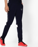 DEVHIM Colorblock Men Dark Blue Track Pants