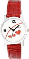SAMEX LATEST STYLISH RED LOVE HEARTS POPULAR BEST PARTY WEAR VALENTINE GIFTING CASUAL DISCOUNTED SALES DEAL PRICE STUDDED TRENDY COLOR Watch  - For Women
