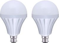 View MTC 12W Led Intelligent/Inverter/ Rechargeable Bulb With In-Built Power Back-up Emergency Lights(White) Home Appliances Price Online(MTC)
