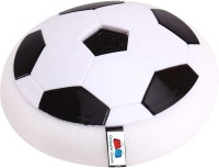 GRAPPLE DEALS Air Power Soccer Football Size 4 Boys Girls Sport Children Toys Training Football Indoor Outdoor Disk Hover Ball Game with Foam Bumpers and Light Up LED Lights For Kids. Football Kit