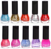ColorDiva Matki Nail Paint 101 Multicolor(70 ml, Pack of 10) - Price 249 80 % Off
