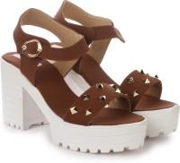 London Steps Women Brown Heels