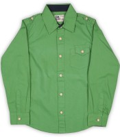 Flying Machine Boys Solid Casual Green Shirt
