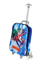 GOCART 3D Design Spider Man Hard Children's Luggage Bag Small Trolley Bag With Telescopic handle Small Travel Bag  - 20(Blue)