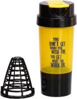 iShake Yellow Body Black Cap Tornado gym bottle 500 ml Shaker(Pack of 1, Yellow, Black)