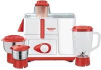 Maharaja Whiteline Maximo 230 Juicer Mixer Grinder(Red, White, 3 Jars)