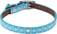 SRI High Quality Polka Dots Collar With Bell For Small Pet/Puppy/Cat Cat Everyday Collar(Small, BLUE)