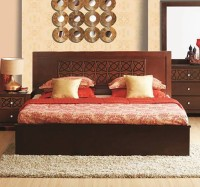 HomeTown Astra Solid Wood Queen Bed With Storage(Finish Color -  Wenge)