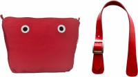 Doubleu Bag Prima Accessories - Large- Red- Handle + Cosmetic Bag(Red)