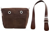Doubleu Bag Prima Accessories - Large- Dark Brown- Handle + Cosmetic Bag(Brown)