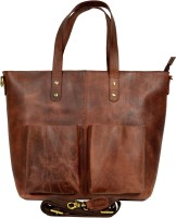 Adimani Women Brown Genuine Leather Tote