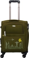 TIMUS Salsa Military Green 55 CM 4 Wheel Strolley Suitcase For Travel ( Cabin Luggage) Expandable Cabin Luggage - 20 inch(Green)