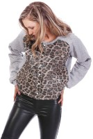 Fairground Full Sleeve Animal Print Women's Bomber  Jacket