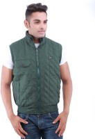 Oceanic Sleeveless Self Design Mens Jacket