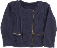 United Colors of Benetton Full Sleeve Self Design Girls Jacket