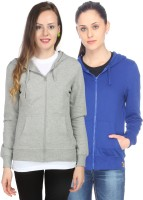 Campus Sutra Full Sleeve Solid Women Fleece Jacket