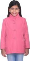 Kids-17 Full Sleeve Solid Girls Jacket