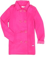 US Polo Kids Full Sleeve Solid Girls Jacket