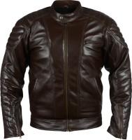 Glam Kills Full Sleeve Solid Mens Fine Leather Jacket