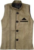Globe Sleeveless Solid Boys Nehru  Linen Jacket