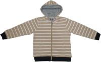 Garlynn Full Sleeve Striped Girls Fleece Jacket