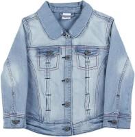 FS Mini Klub Full Sleeve Solid Girls Denim jacket