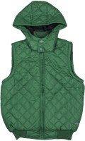 US Polo Kids Sleeveless Solid Boys Quilted Jacket